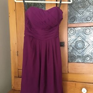 Bridesmaid Dress - Bill Levkoff, size 4, Sangria